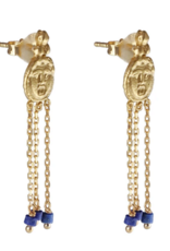 Cleopatra's Bling Gorgoneion Charm Earrings goldplated