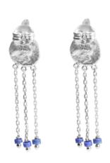 Cleopatra's Bling Gorgoneion Charm Earrings silver