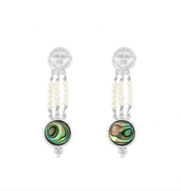 Cleopatra's Bling Georgeion Mother earrings silver