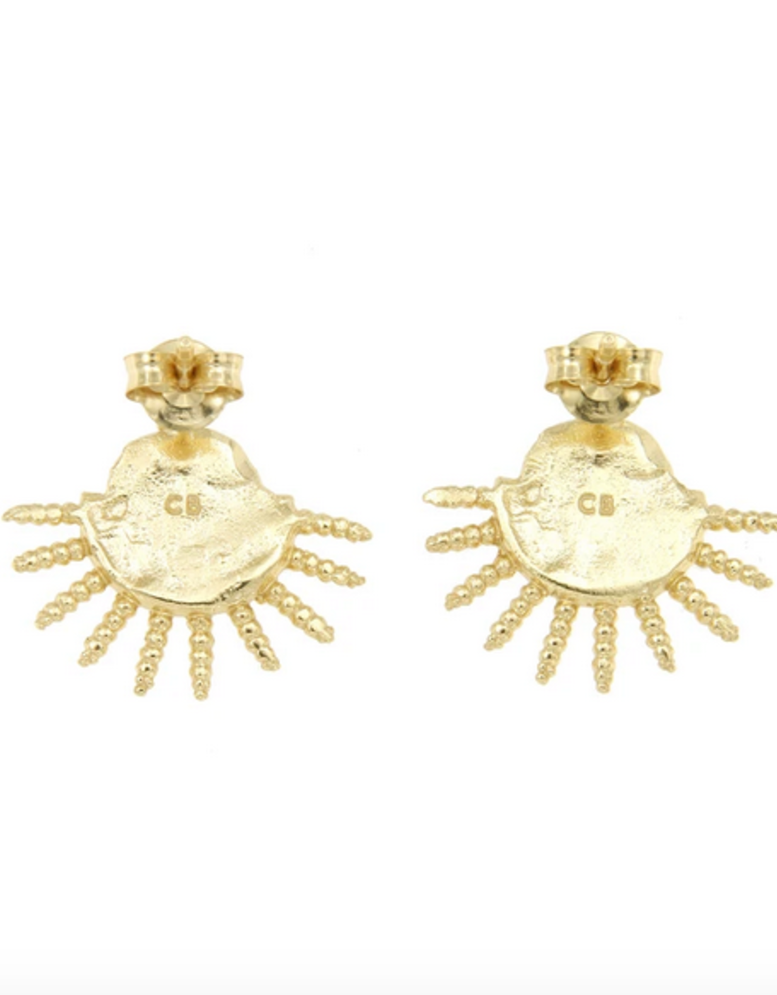 Cleopatra's Bling Lampetia Studs goldplated