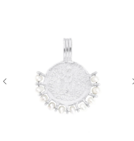 Cleopatra's Bling Victoria coin pendant necklace silver