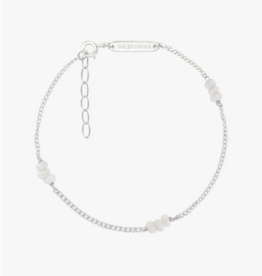 Wildthings Collectables Triple white beads bracelet silver