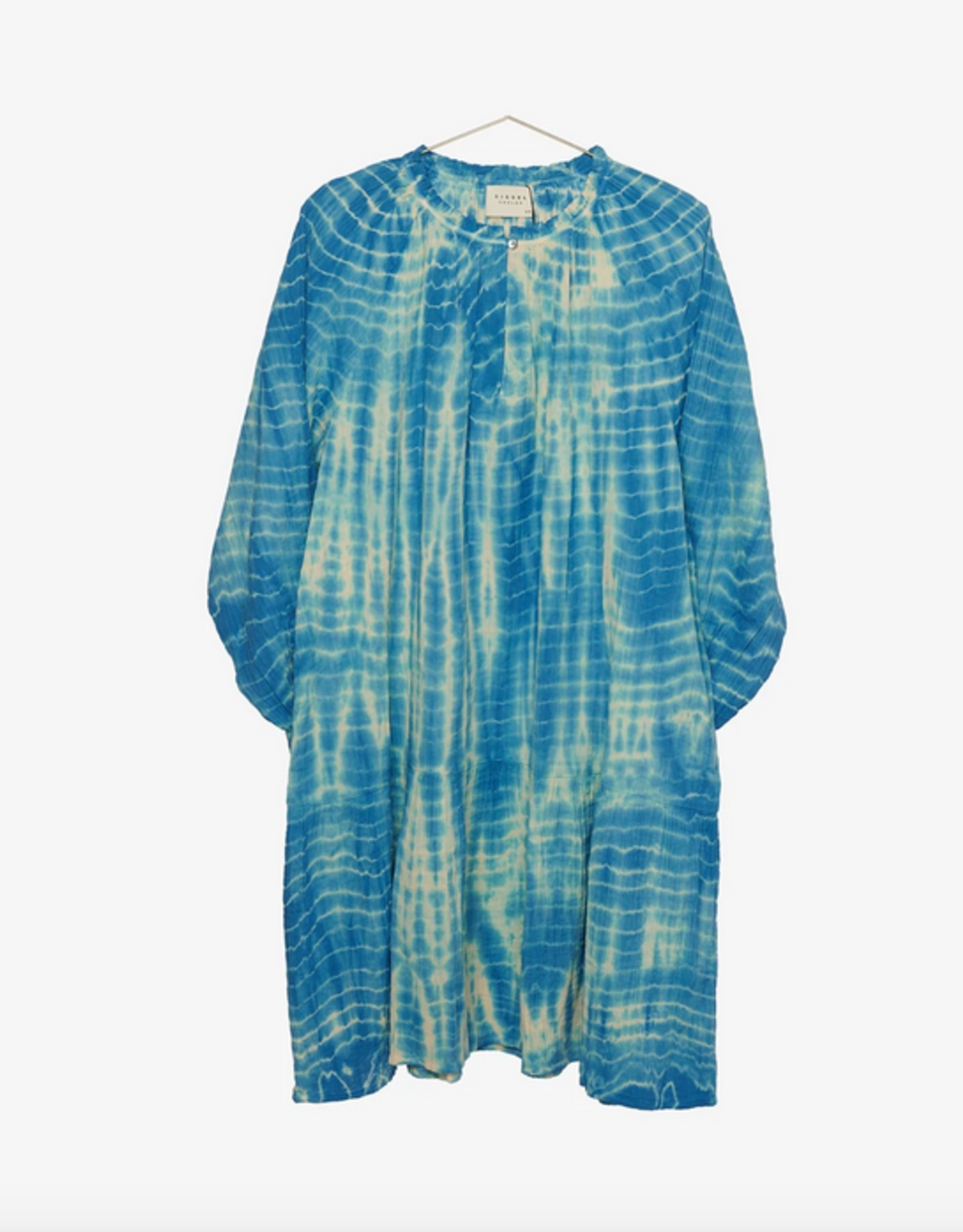 Sissel Edelbo Manila short tie dye dress BLUE