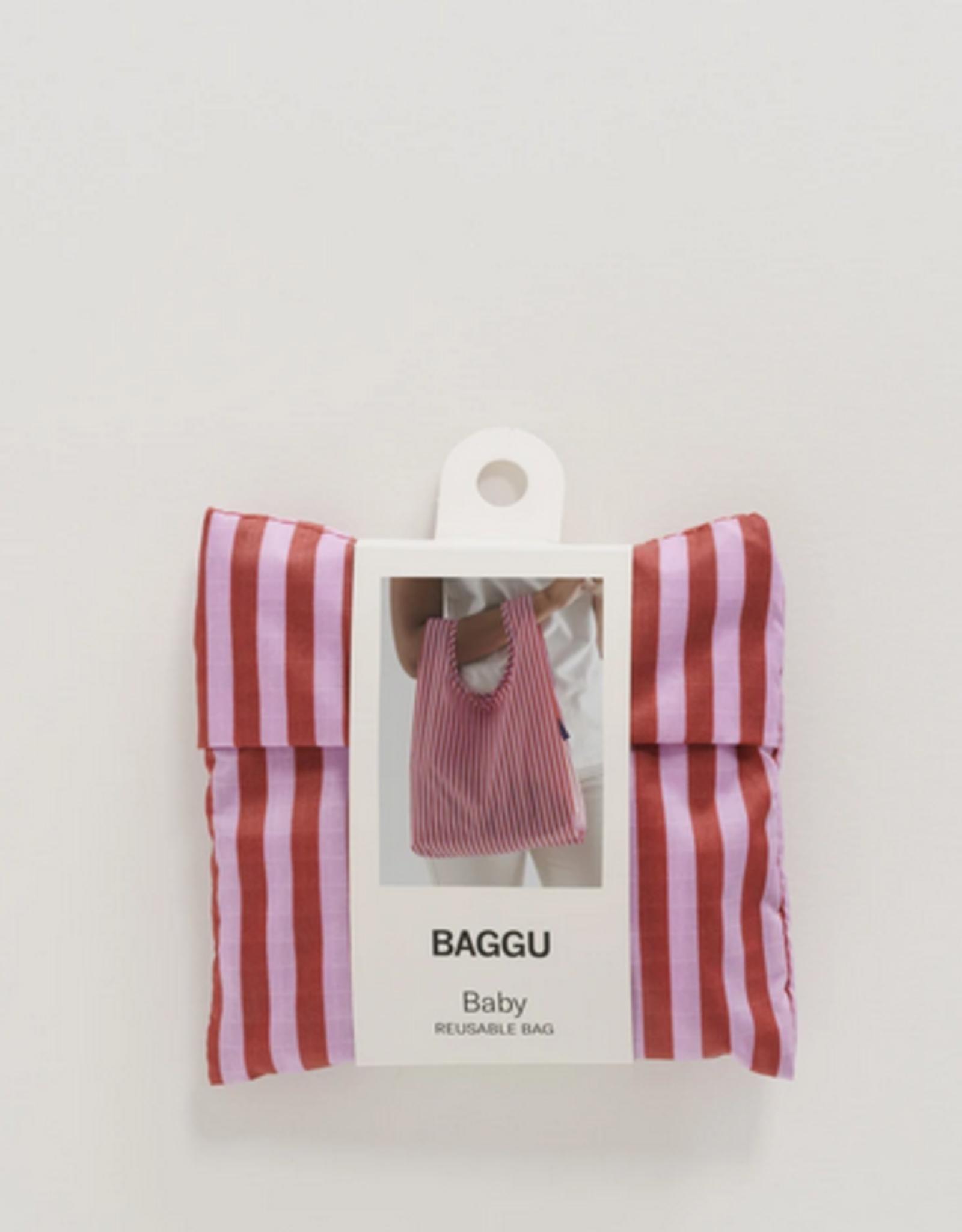 Baggu Baby reusable bag cerise stripe