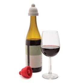 abodee Wine beanie bottle stopper (red&grey)