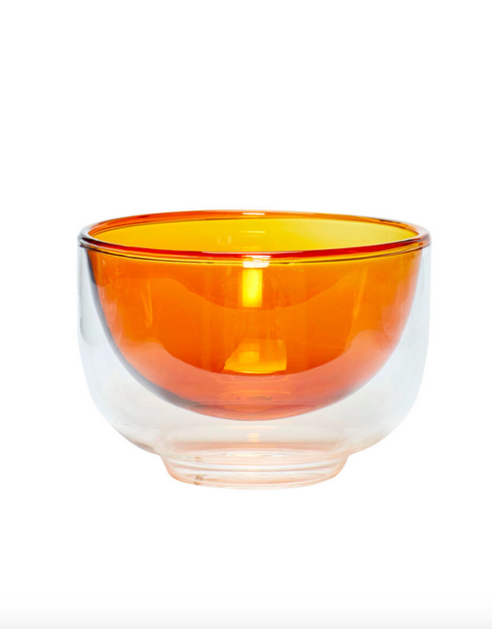 Hübsch Bowl glass amber clear