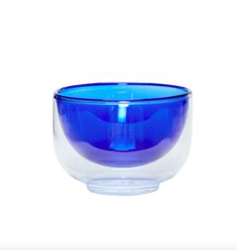 Hübsch Bowl glass clear blue