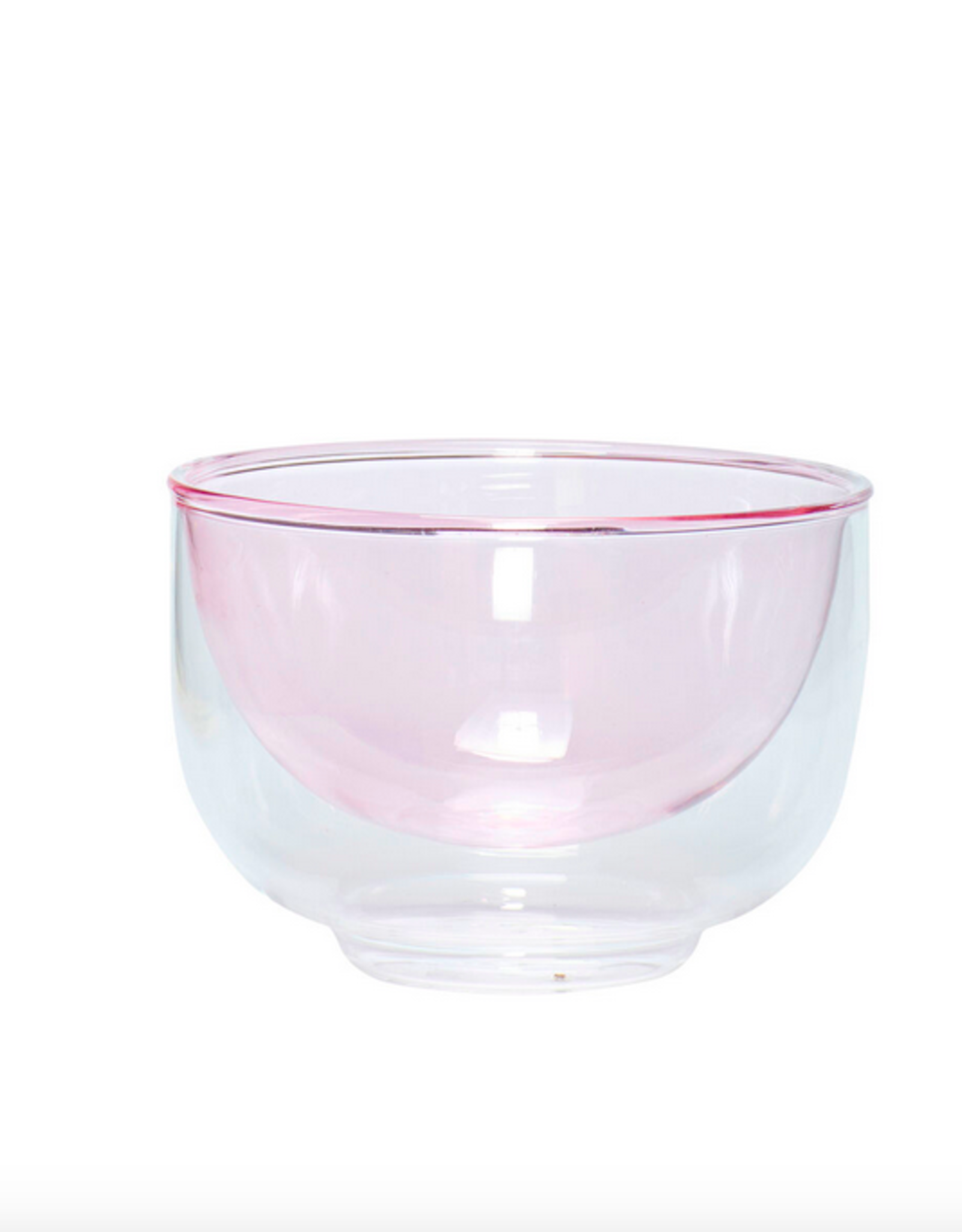 Hübsch Bowl glass pink