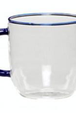 Hübsch Coffee glass blue