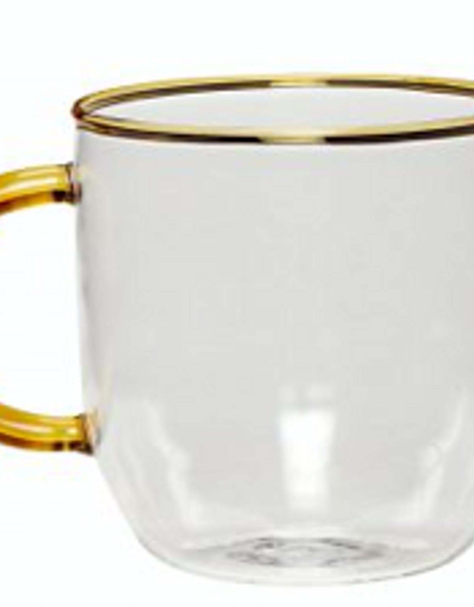 Hübsch Coffee glass Amber