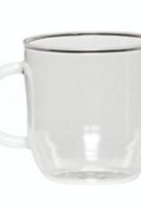 Hübsch Coffee glass white