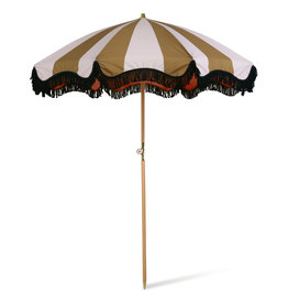 HK Living Sun Umbrella Mustard stripes