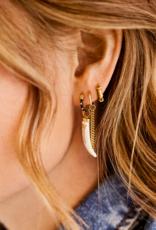 Anna + Nina Single Chunky Chain Ring Earring Silver