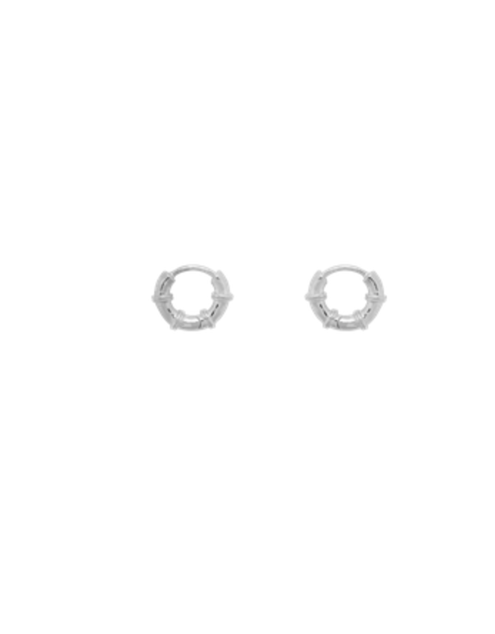 Anna + Nina Cable Ring Earrings Silver