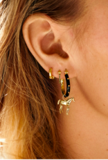Anna + Nina Cable ring earrings silver goldplated