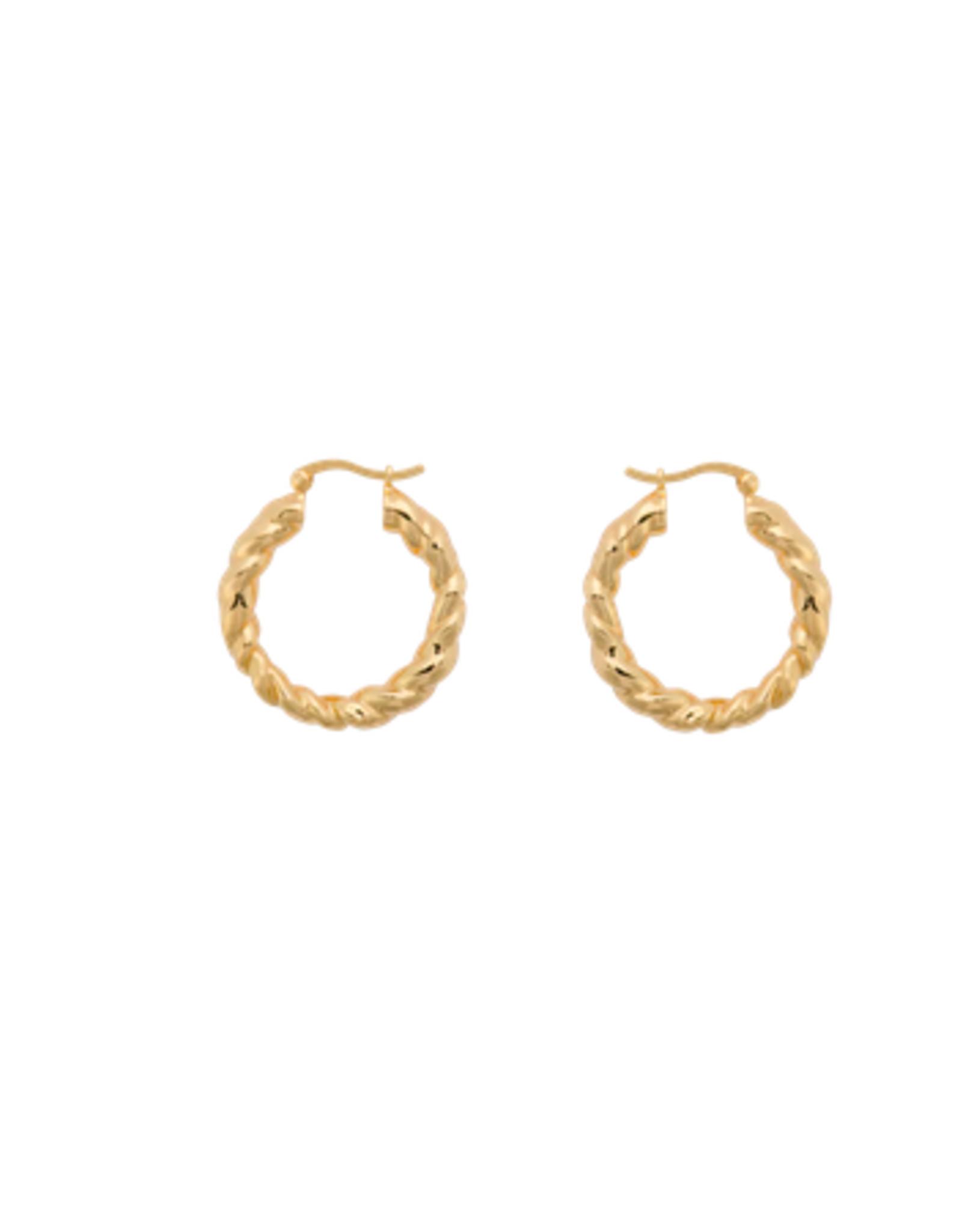 Anna + Nina Lasso Hoop Earrings Goldplated