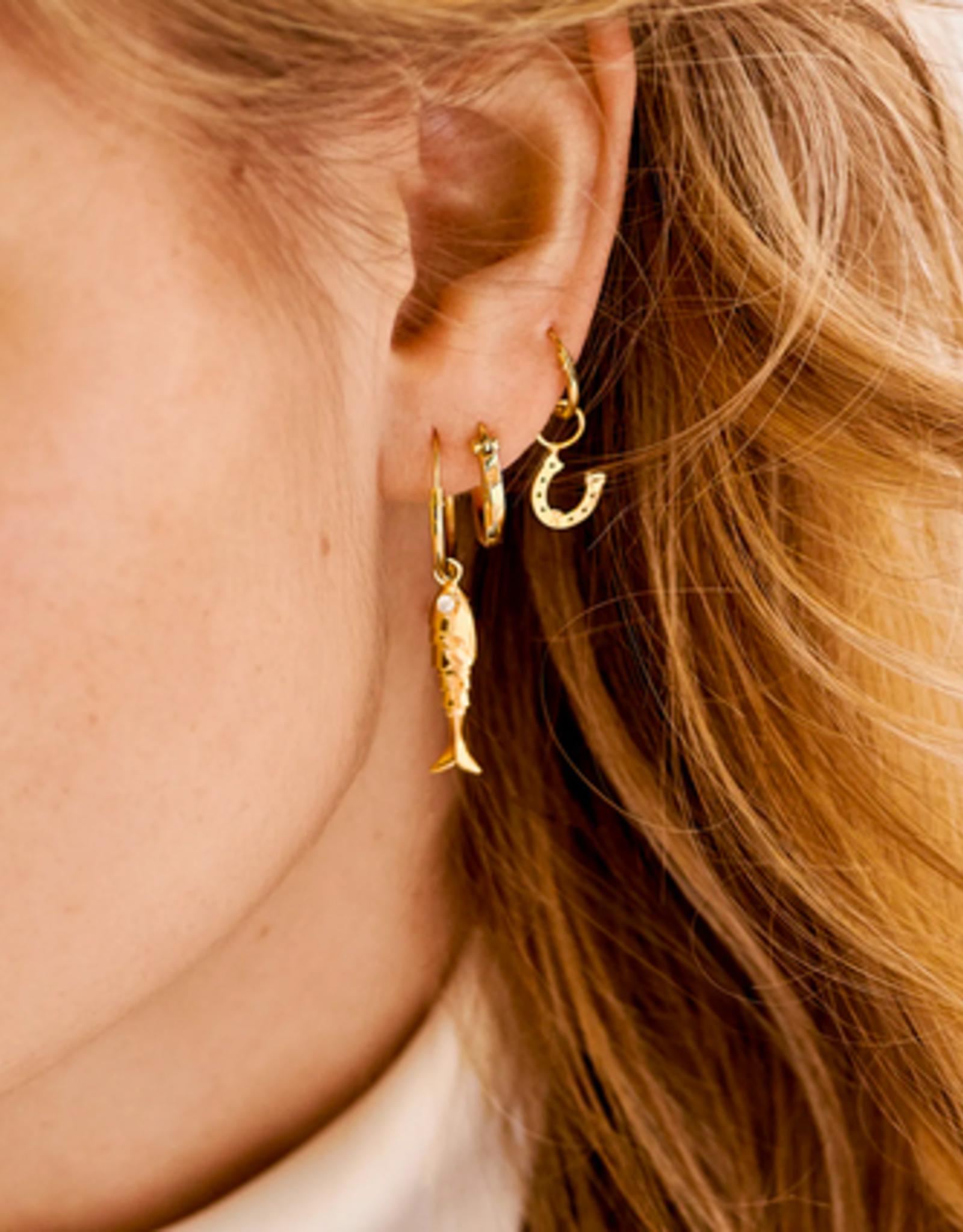 Anna + Nina Horseshoe Earring Charm Goldplated