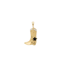 Anna + Nina Cowboy Boot Necklace Charm Goldplated