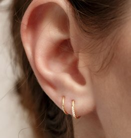 Sansoeurs Big snake diamonds gold earring (left ear)