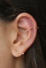 Sansoeurs Z 1'7 mm diamond gold earring (right ear)