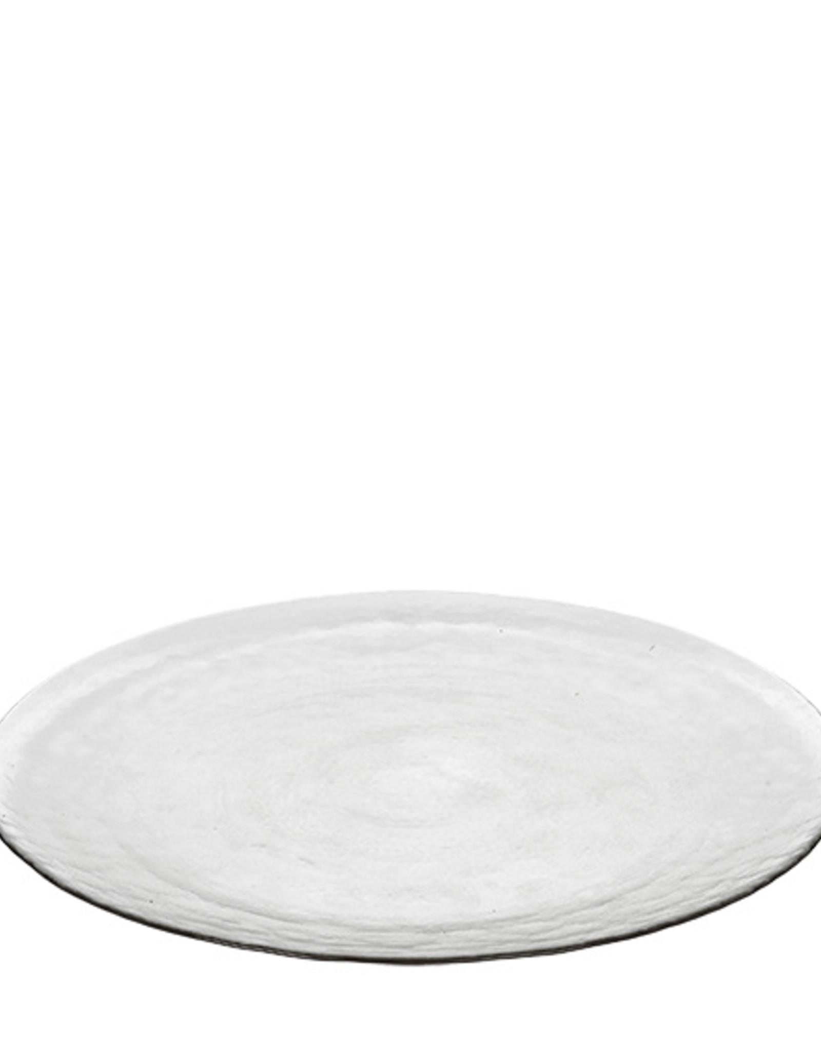broste copenhagen Large plate hammered glass