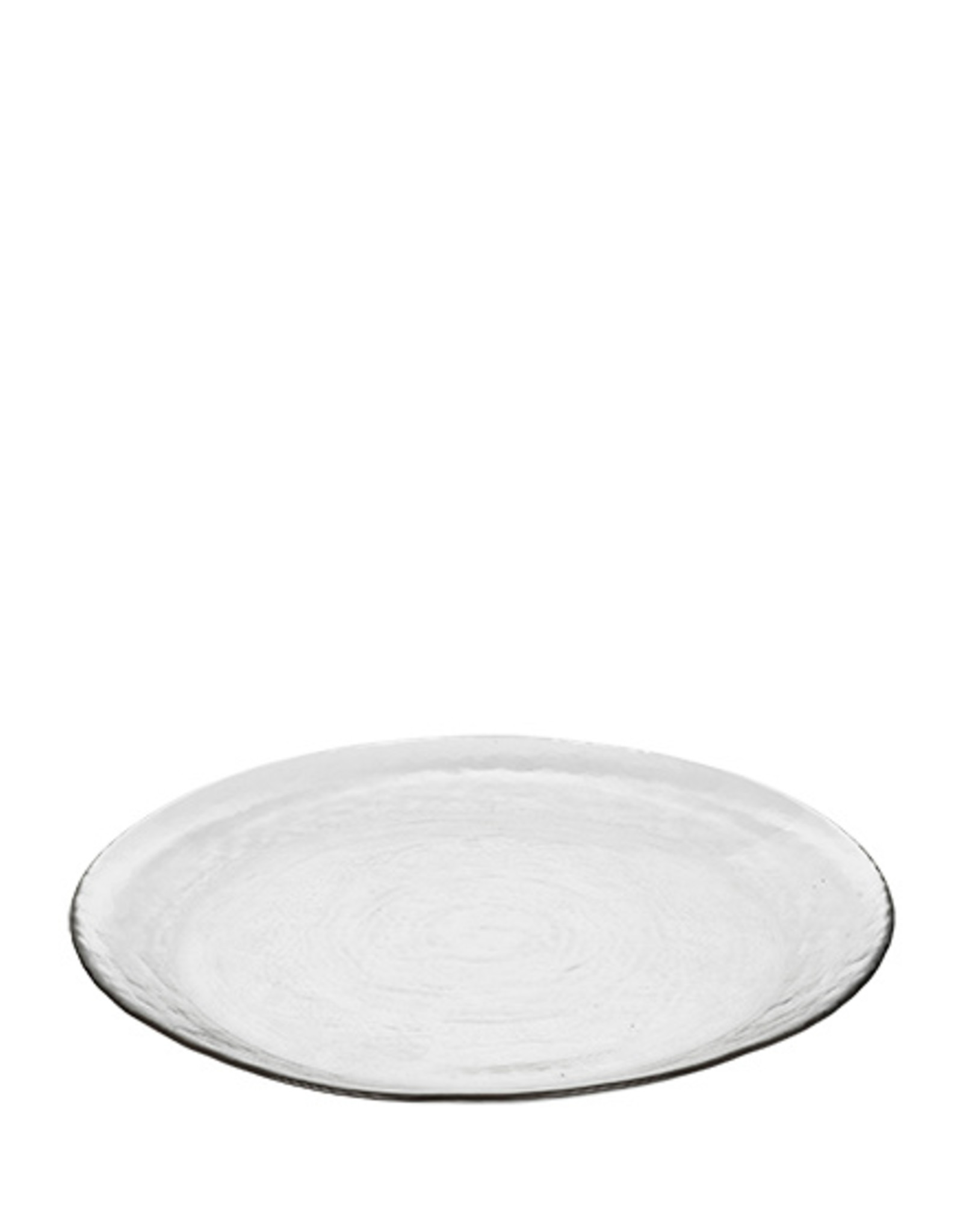 broste copenhagen Plate clear hammered glass