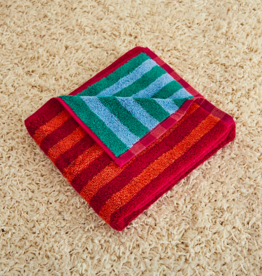 Dusen dusen Dusen Dusen Hand towel Ruby stripe