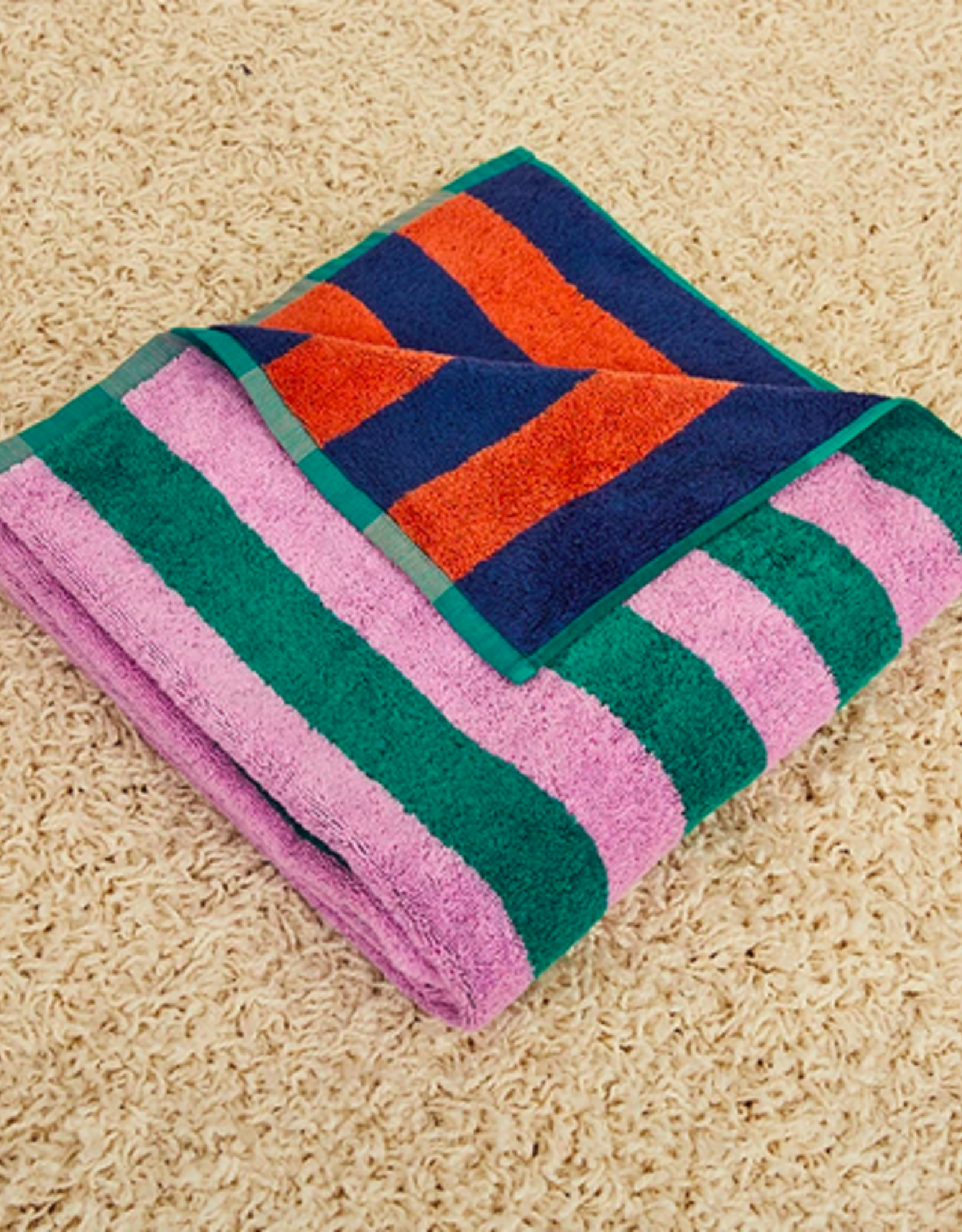 Dusen dusen Dusen Dusen Bath towel Topaz stripe