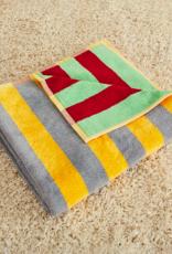 Dusen dusen Dusen Dusen Bath towel Jade stripe