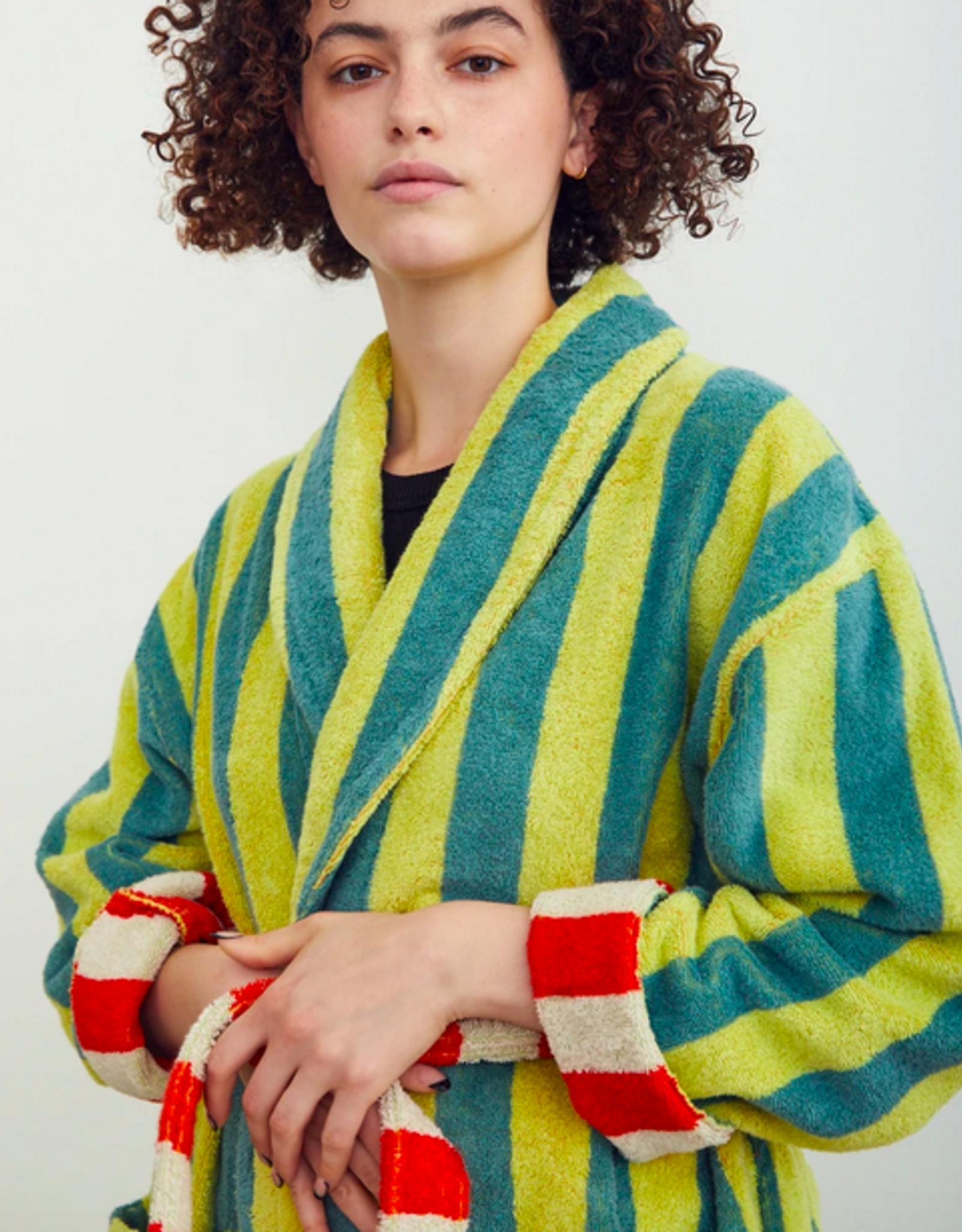 Dusen dusen Dusen dusen bathrobe Lime stripe M