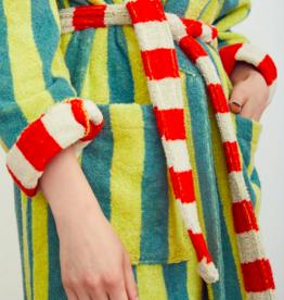 Dusen dusen Dusen Dusen bathrobe Lime stripe L