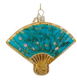 Vondels Blue fan christmas ornament