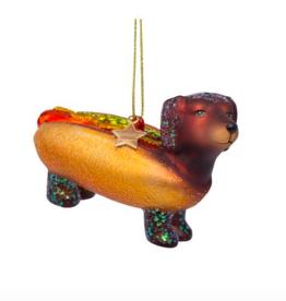 Vondels Hotdog dog christmas ornament