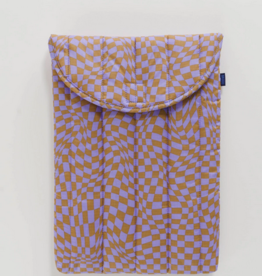 Baggu Puffy laptop sleeve lavender trippy checker 16 inch
