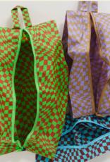 Baggu 3D zip set trippy checkers