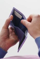 Baggu Nylon wallet lavender trippy checker