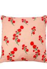 Bernadette Bernadette Floral cushion small 50x50cm - red blossom
