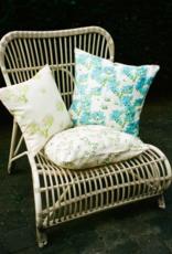 Bernadette Bernadette Floral cushion small 50x50cm - blue hortensia