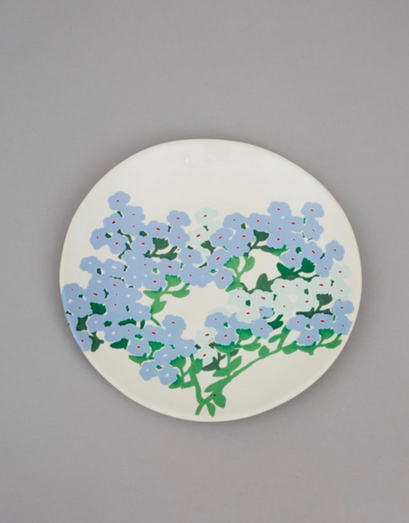 Bernadette Bernadette Side plate blue hortensia