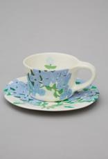 Bernadette Bernadette Cup and saucer blue hortensia