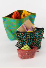 Baggu Go pouch set Calico florals