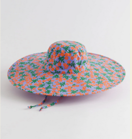 Baggu Packable sun hat red calico floral
