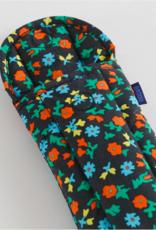Baggu puffy glasses sleeve black calico floral