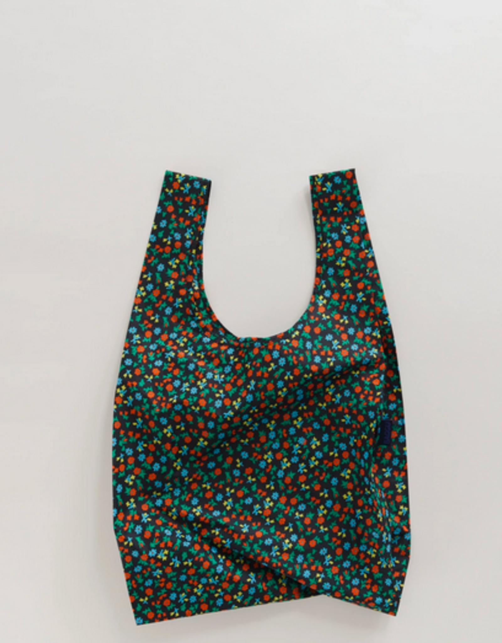 Baggu Standard reusable bag black calico floral