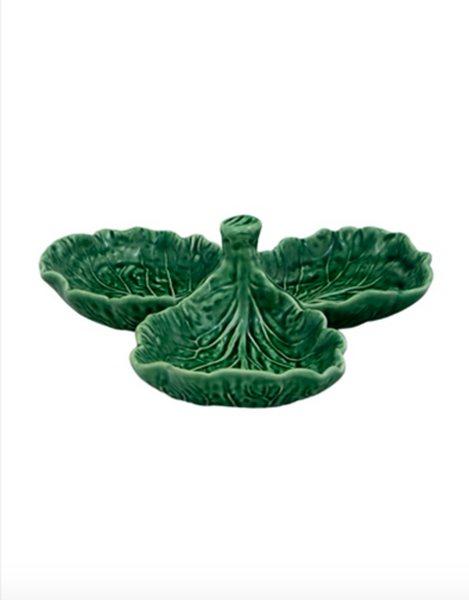 Bordalo Pinheiro Olive dish cabbage