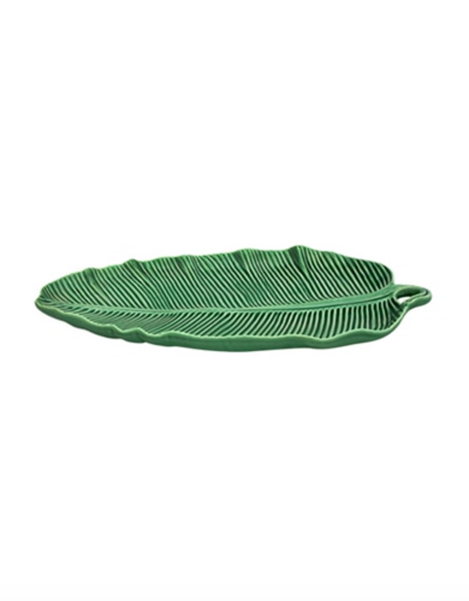Bordalo Pinheiro Banana leaf 36cm plate