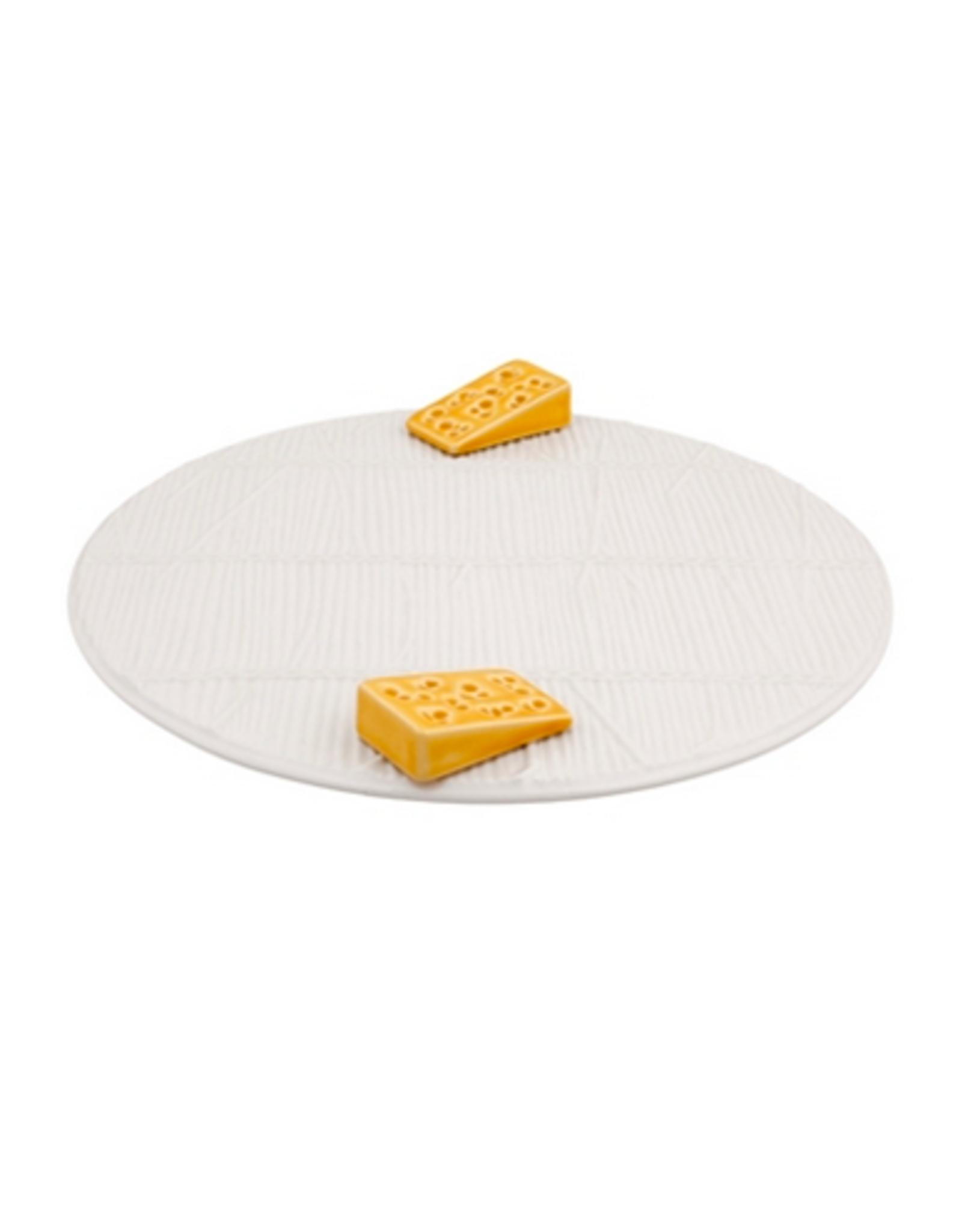 Bordalo Pinheiro White cheese tray