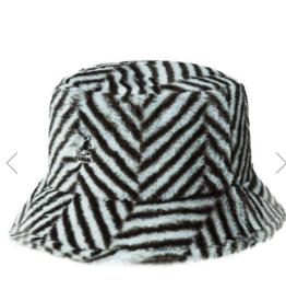 kangol Faux fur bucket hat grey S