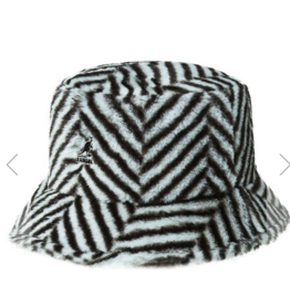 kangol Faux fur bucket hat grey M