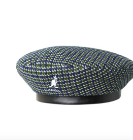 kangol Tooth grid beret Forest/navy S/M